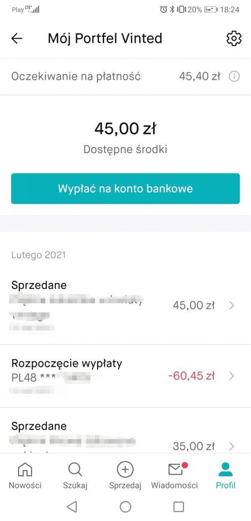 aplikacja vinted sprzedaż ciuchów