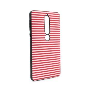 Maska Luo Stripes za Nokia 6.1 2018 crvena