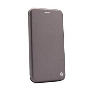 Maska Teracell Flip Cover za Motorola Moto E6 Play srebrna