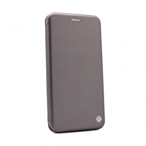 Maska Teracell Flip Cover za Motorola Moto E6 Plus srebrna