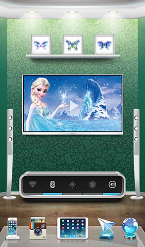 Screenshots of 3D home program for Android phone or tablet.