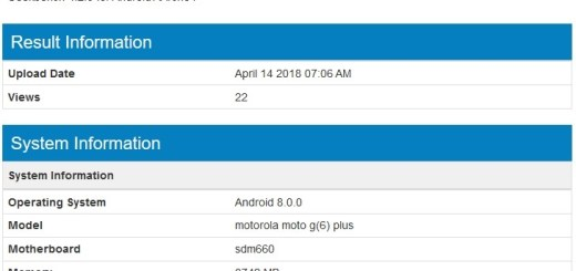 Moto G6 Plus spotted at Geekbench
