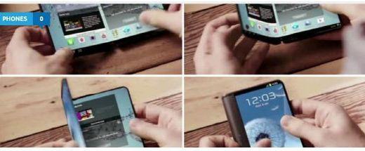Samsung foldable phone image