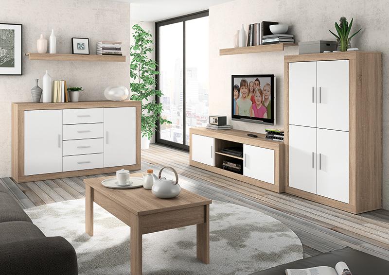 Muebles quieres hacer m s grande tu sal n muebles - Como decorar un salon pequeno ...