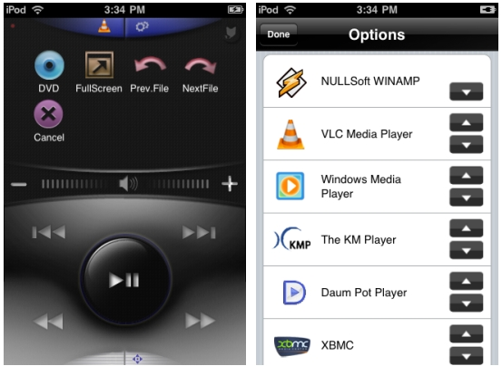 RemoteX: Remote control 12 PC media players from an iPhone