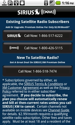 Siriusxm Cancel Subscription >> Sirius XM Satellite radio app now available for Android ...