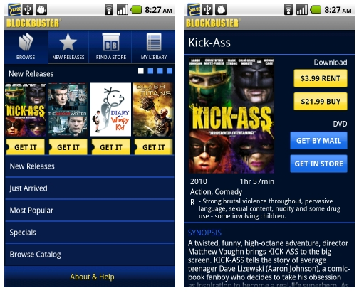 Blockbuster app lets you download, watch movies on your Android phone - mobiputing