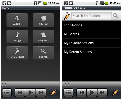 Winamp for Android adds support for Shoutcast streaming radio