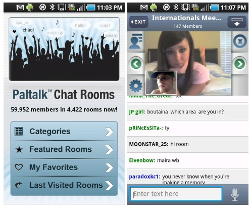 Chat Rooms For Android Tablets