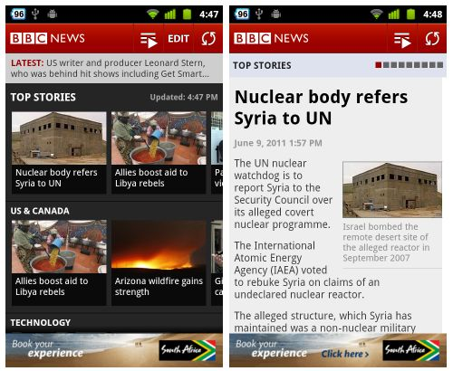 BBC News app for Android