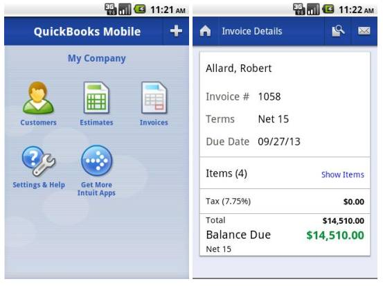 QuickBooks Mobile for Android