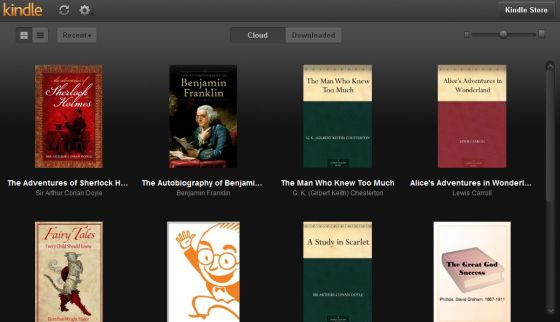 Amazon Kindle web app