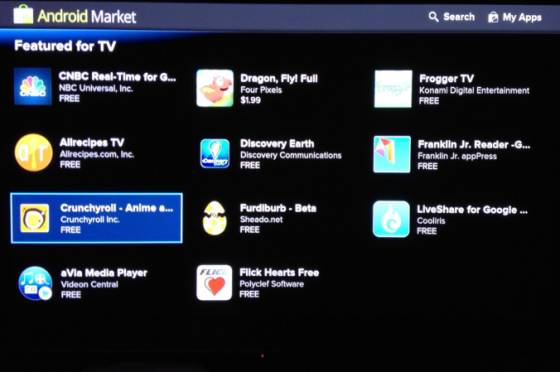 Google TV with Android Market
