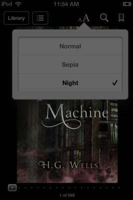 iBooks night theme