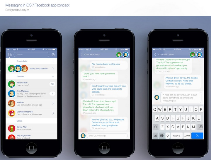 Facebook Messanger concept