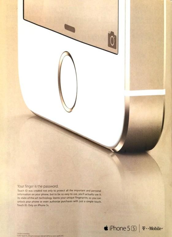 iPhone 5s reklama prasowa