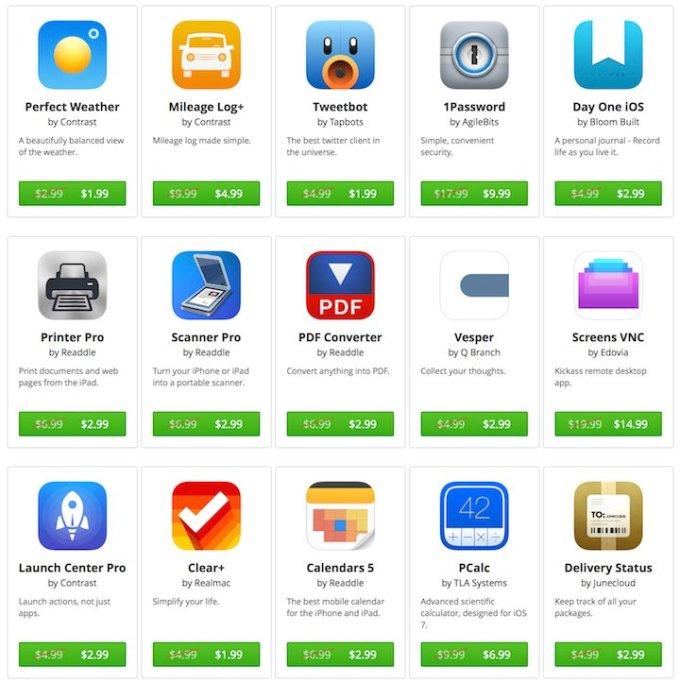 App Santa - lista przecenionych aplikacji