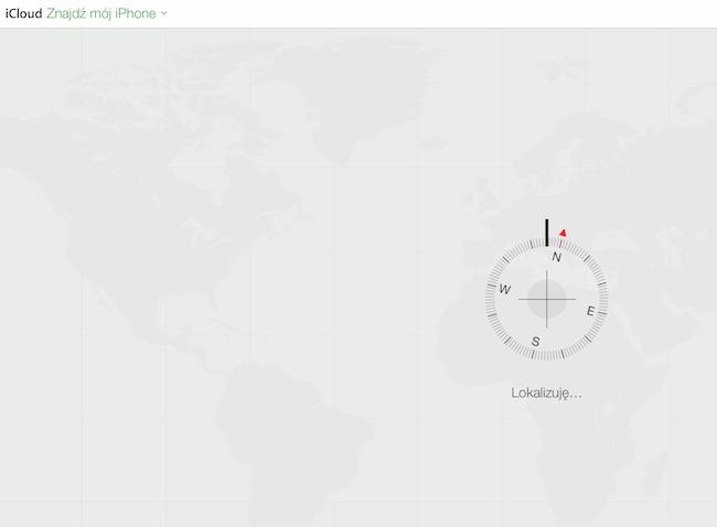 Znajdź mój iPhone - screen