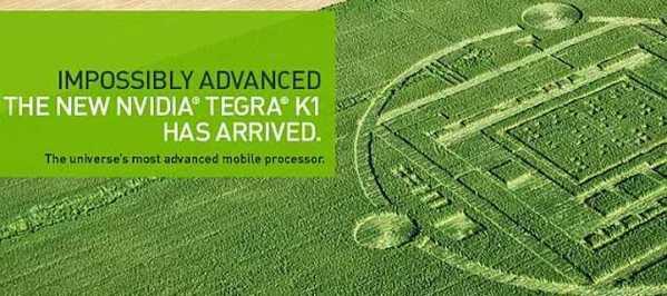 Znalezione kręgi w zbożu to NVIDIA Tegra K1