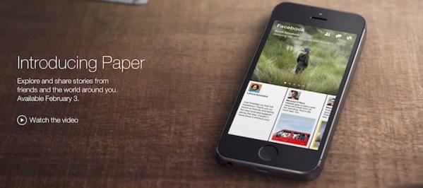 Facebook Paper – nowa aplikacja mobilna Facebooka