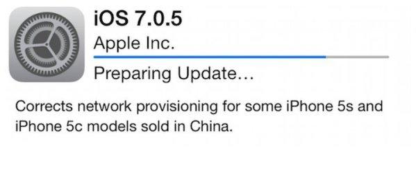 iOS 7.0.5 z drobnymi poprawkami dla wybranych iPhone'ów