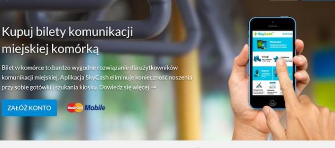 Skycash z biletami NFC