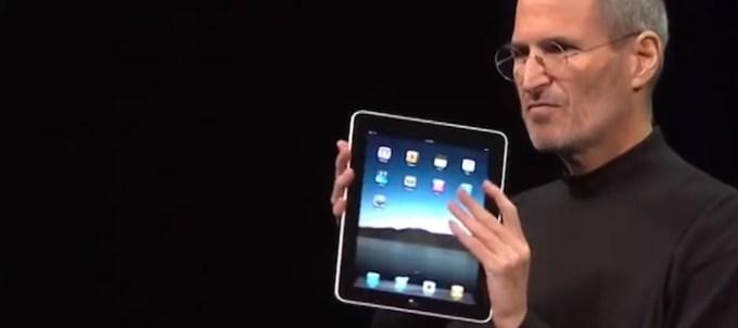 iPad Steve Jobs