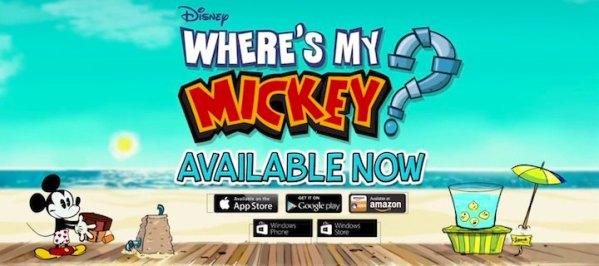 Where's My Mickey? bezpłatna aplikacja tygodnia