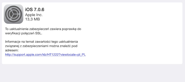 iOS 7.0.6
