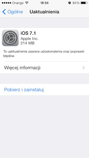 iOS 7.1 iPhone 5
