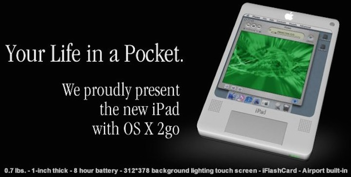Koncept iPada z 2004 roku
