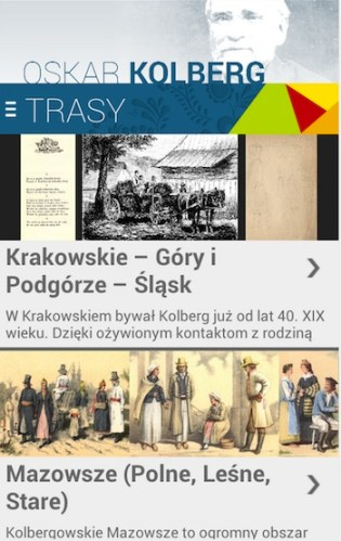 Aplikacja Śladami Oskara Kolberga