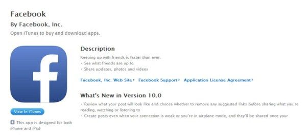 Facebook 10.0 z trybem offline i nowym wyglądem