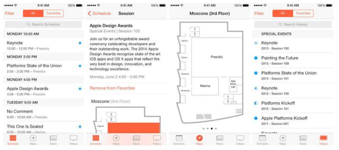 aplikacja WWDC na iPhone'a