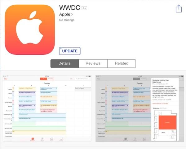Uaktualniona aplikacja WWDC