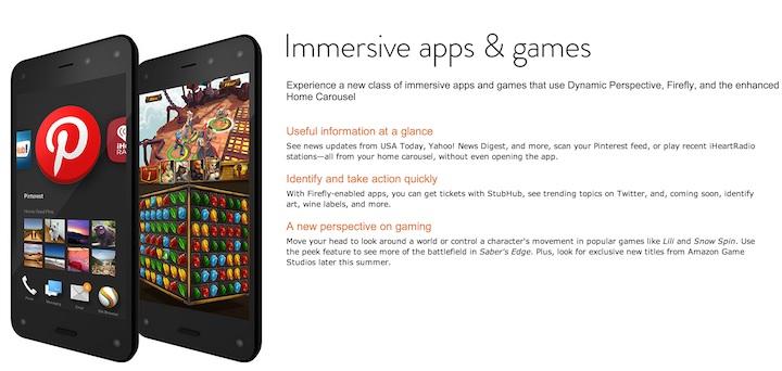 Amazon Fire Phone - apps UI