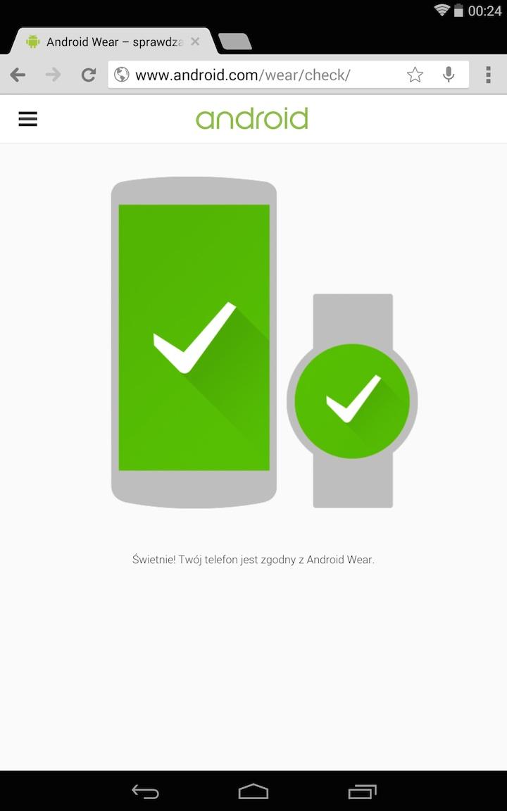 Android Wear - sprawdzanie zgodności z telefonem