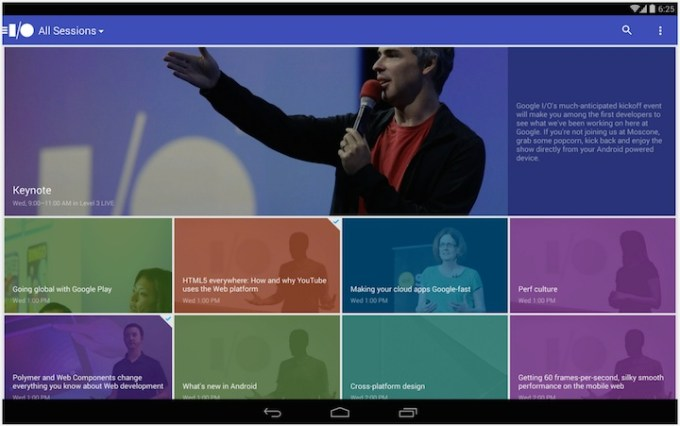 Aplikacja Google I/O 2014