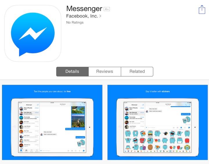 Facebook Messenger na iPada