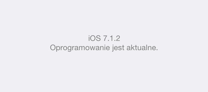 iOS 7.1.2 na iPhone'ie 5