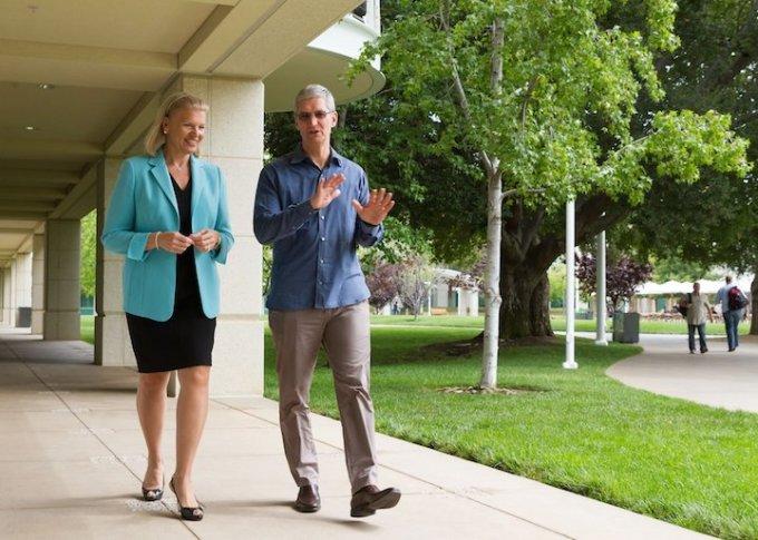 Tim Cook (Apple) i Virginia Rometty (IBM)