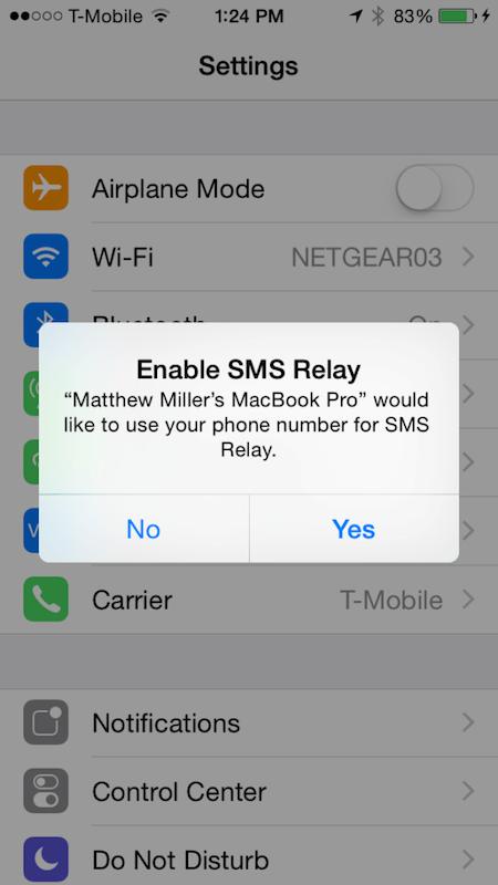 Dostęp dla innych urządzeń do wiadomości SMS