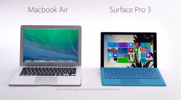 Nowe reklamy Surface Pro 3 i atak Apple'a