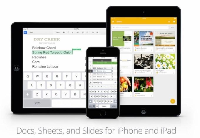 Google Slides, Prezentacje Google iOS
