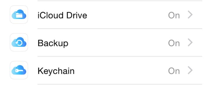 Nowe ikony w ustawieniach iCloud
