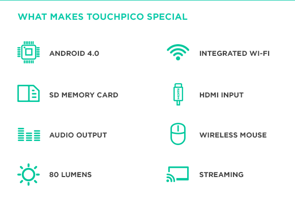 Zalety TouchPico