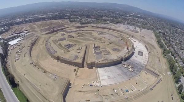 Apple Campus 2 widziany z lotu drona