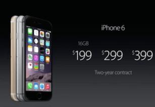 Cena iPhone'a 6