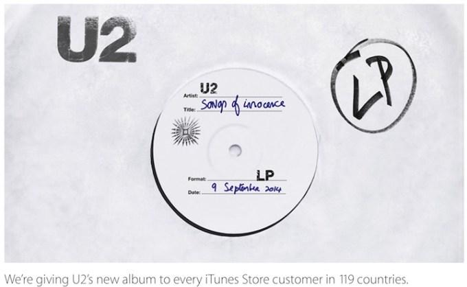 Płyta U2 za darmo w 119 krajach