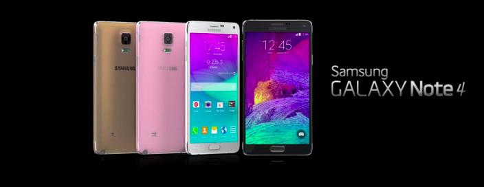 Samsung Galaxy Note 4 - kolory